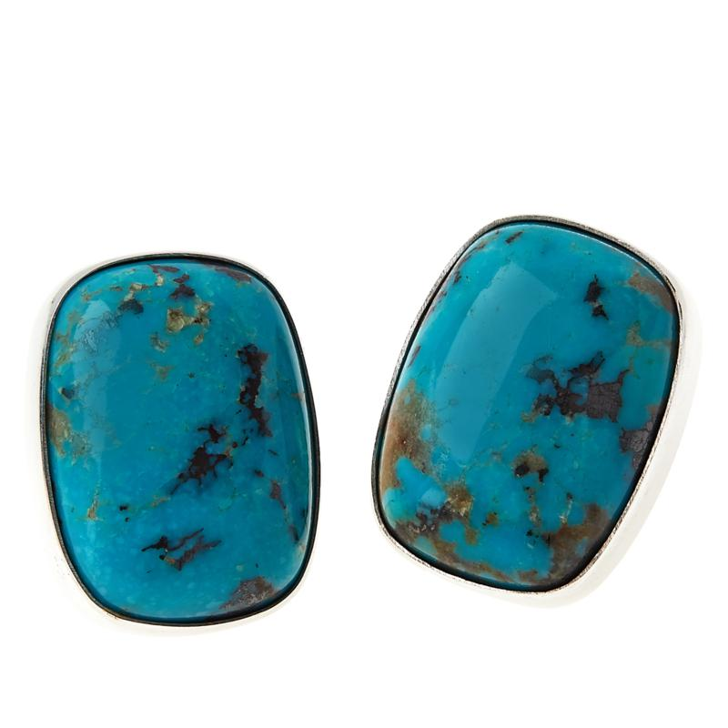 Jay King Sterling Silver Iron Mine Turquoise Earrings