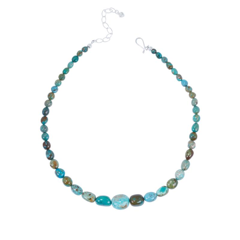 Jay King Sterling Silver Iron Mountain Turquoise Bead Necklace