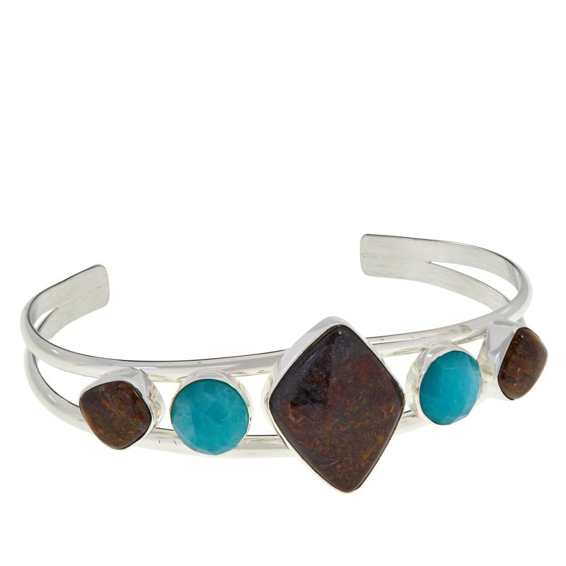 Jay King Sterling Silver Jasper and Amazonite Cuff