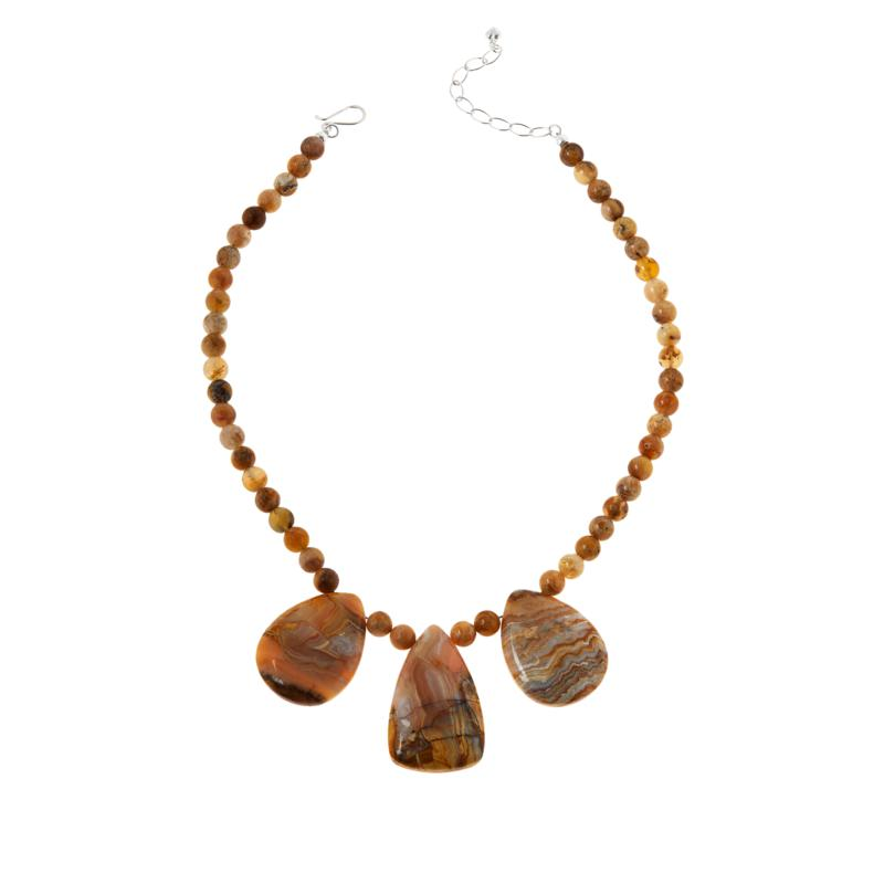 Jay King Sterling Silver Java Lace Agate Necklace