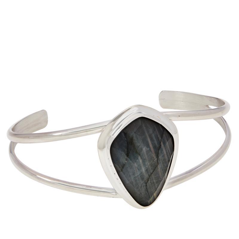 Jay King Sterling Silver Labradorite Freeform Cuff Bracelet