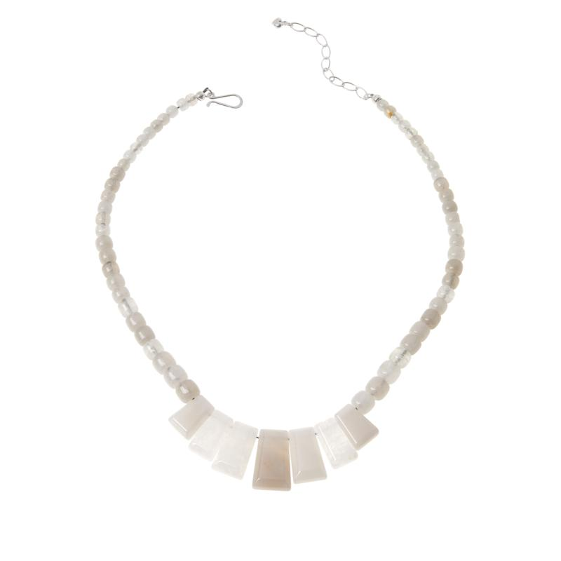 Jay King Sterling Silver Moonstone Necklace