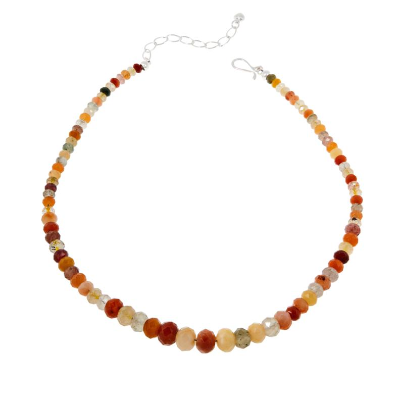 Jay King Sterling Silver Multi-Color Medley Quartzite Bead Necklace