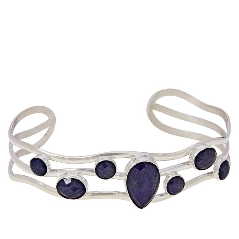 Jay King Sterling Silver Multi-Stone Tanzanite Cuff Bracelet