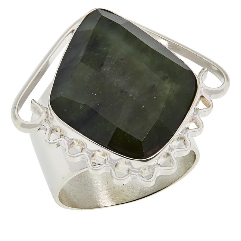 Jay King Sterling Silver Nephrite Jade Ring