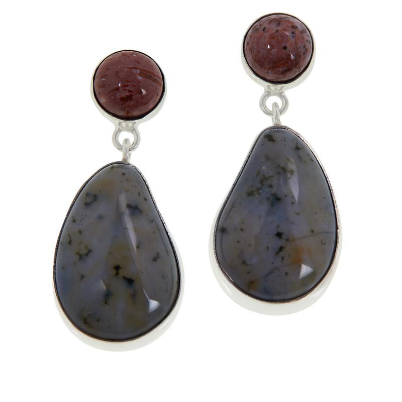 Jay King Sterling Silver Orbicular Chalcedony Drop Earrings