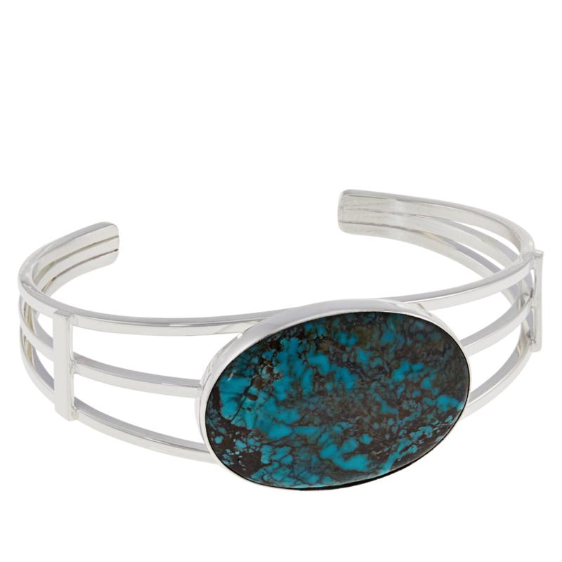 Jay King Sterling Silver Oval Hubei Turquoise Cuff