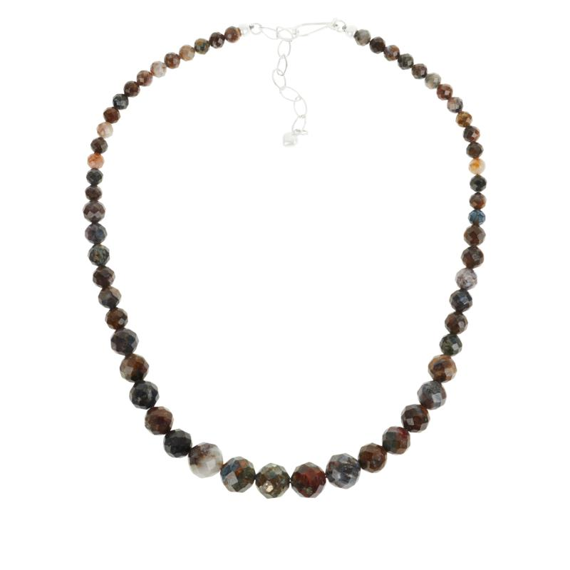 Jay King Sterling Silver Pietersite Graduating Bead Necklace