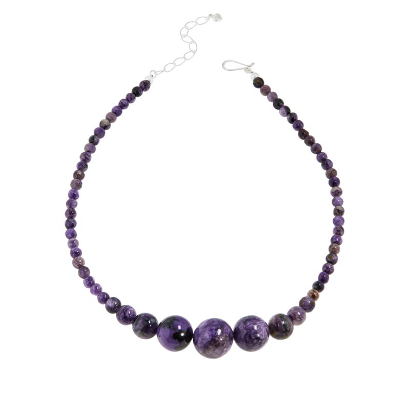 Jay King Sterling Silver Purple Charoite Bead Necklace