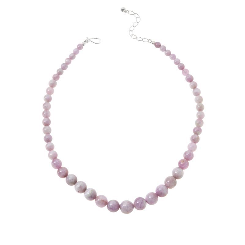 Jay King Sterling Silver Purple Kunzite Bead Necklace