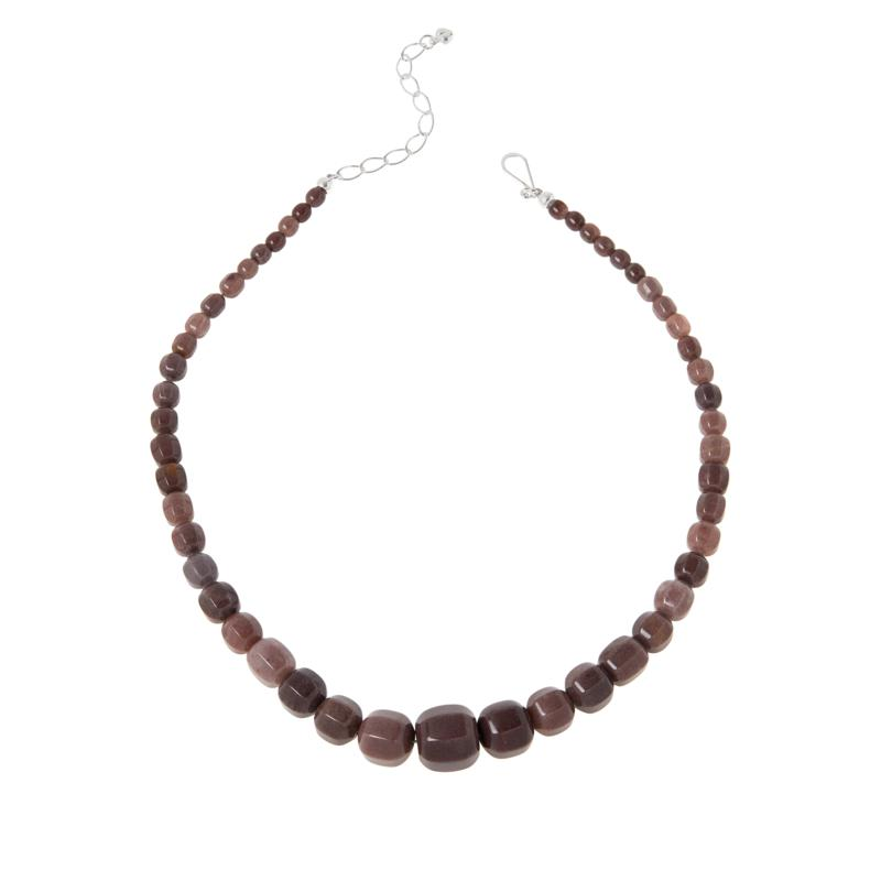 Jay King Sterling Silver Rose Taupe Quartzite Graduated Bead Necklace