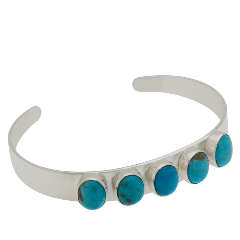 Jay King Sterling Silver Royal Blue Turquoise 5-Stone Cuff Bracelet