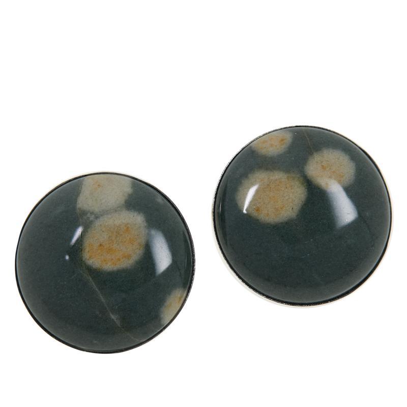Jay King Sterling Silver Sea Flower Stone Stud Earrings