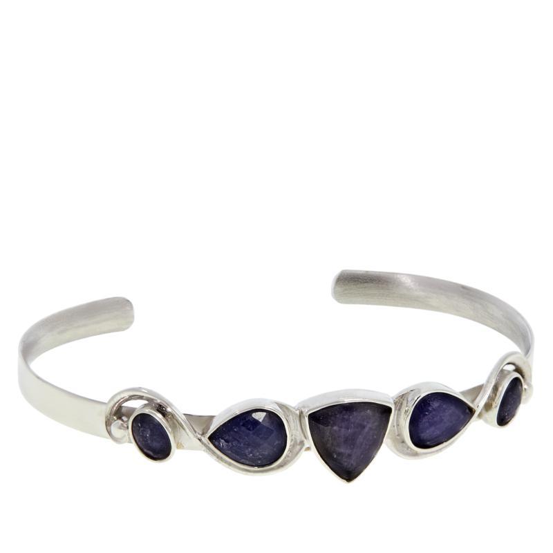 Jay King Sterling Silver Tanzanite Cuff Bracelet