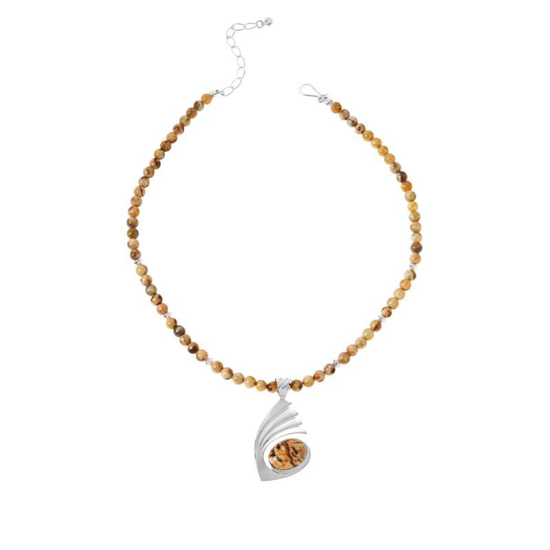Jay King Sterling Silver Zebradorite Pendant with Necklace