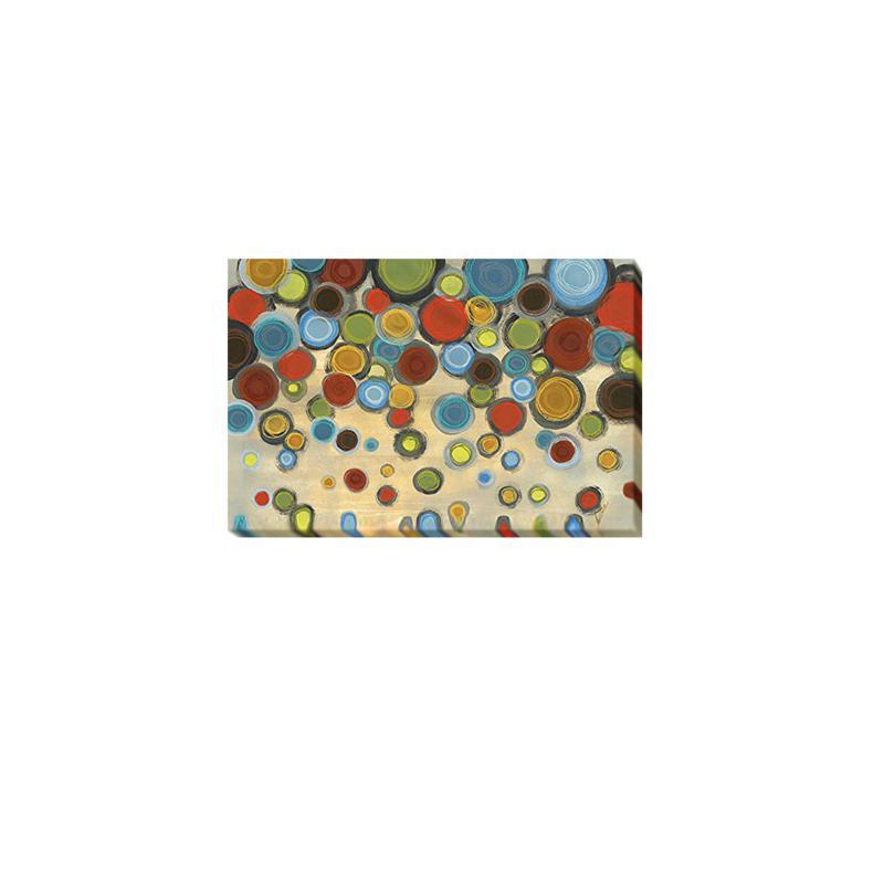 "Jeni Lee ""Retro Circles"" Giclee Wall Art - Medium"