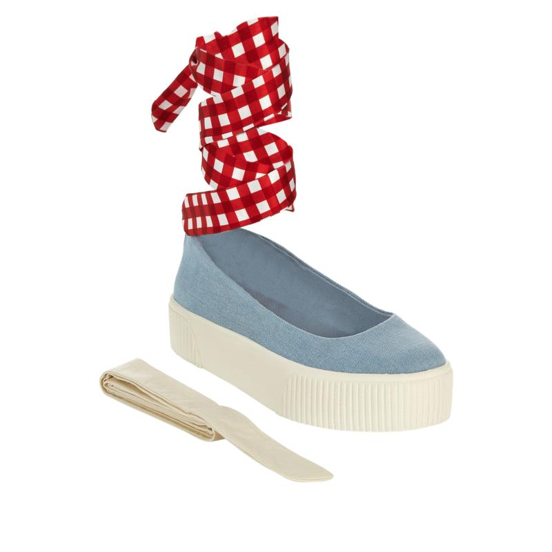 Jessica Simpson Elisah Slip-On Platform Sneaker with Ankle Wraps