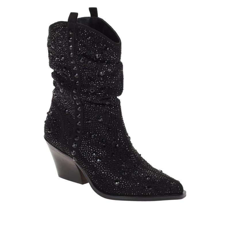 Jessica Simpson Zellya Crystal-Studded Western Bootie