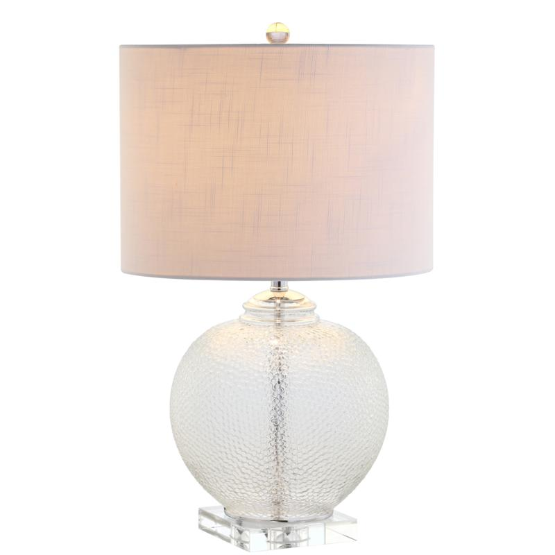 """Jonathan Y Avery 24"""" Glass and Crystal LED Table Lamp"""