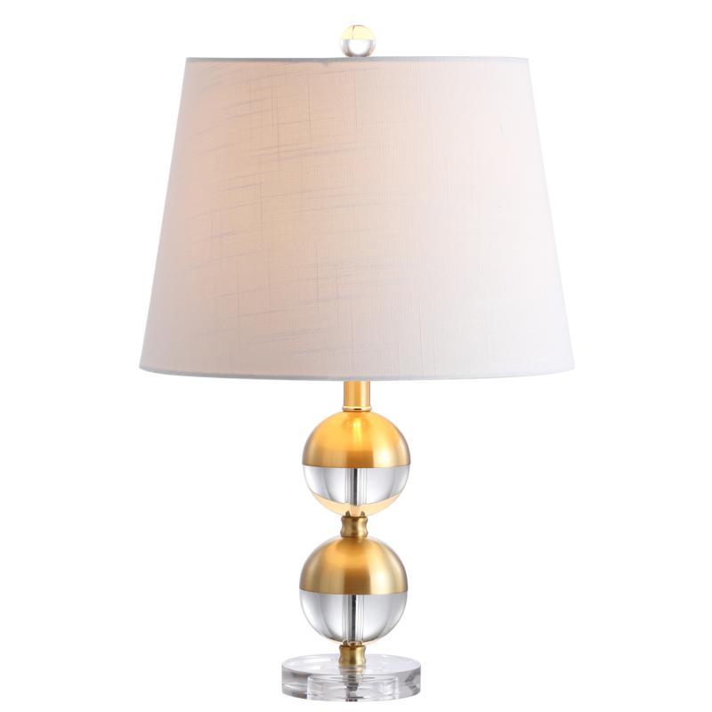 "JONATHAN Y Brass Jules 23"" Crystal Mini LED Table Lamp"