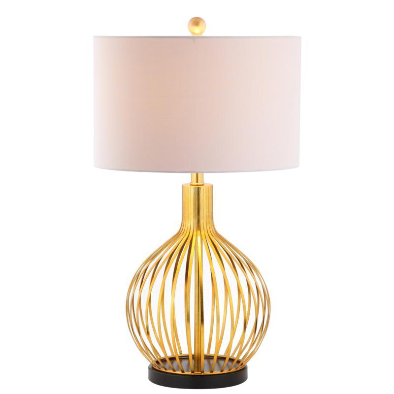 "JONATHAN Y Gold Leaf Baird 29.5"" Metal LED Table Lamp"