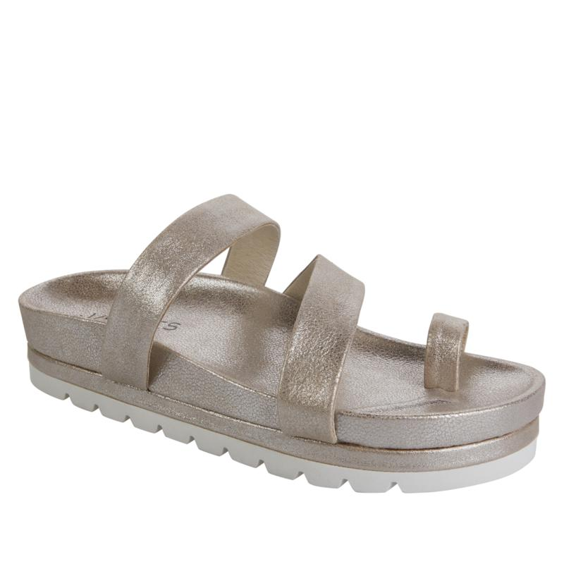 J/Slides NYC Roper Leather Toe Loop Sandal