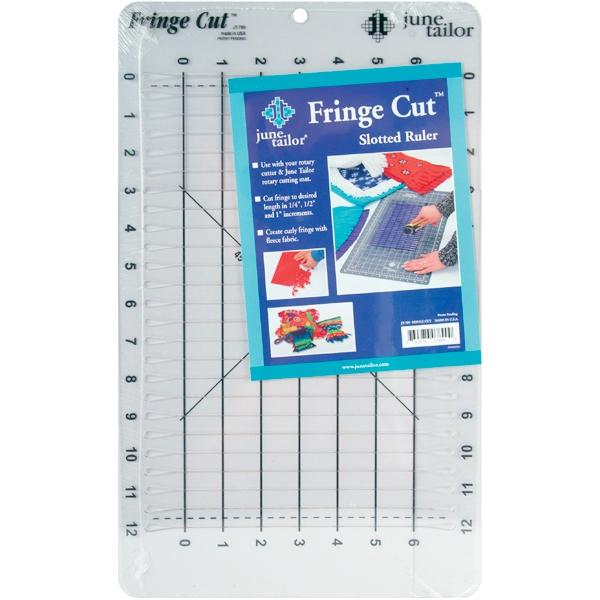 June Tailor Fringe Cut Slotted Ruler