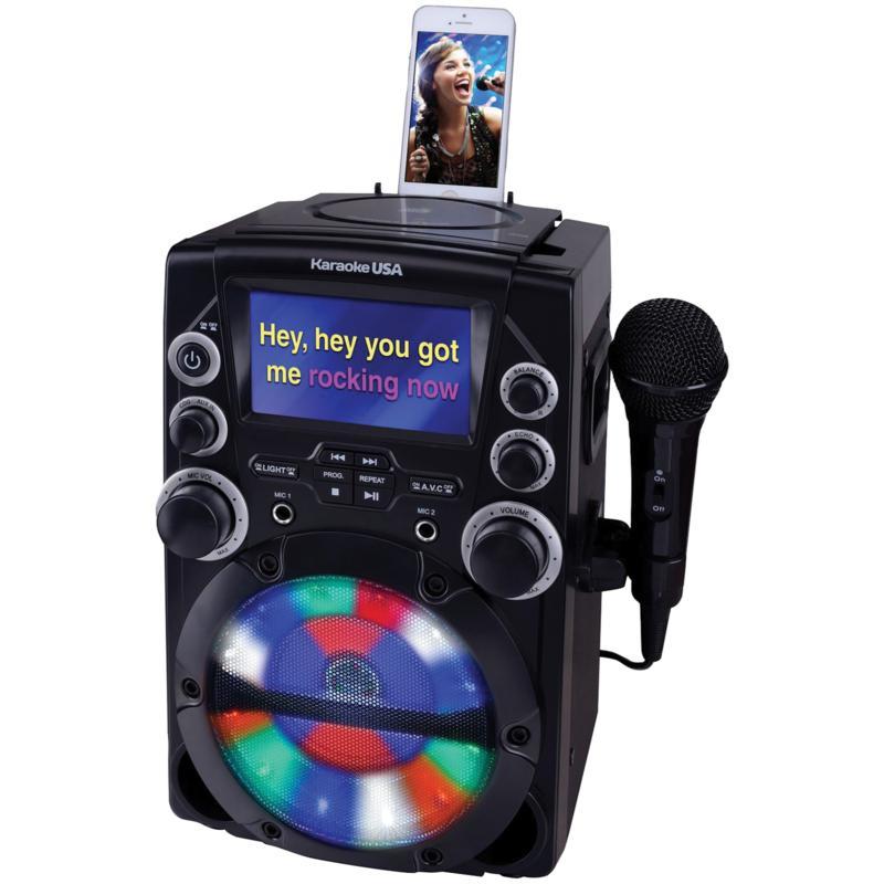 "Karaoke USA GQ740 CD+G Karaoke System with 4.3"" Color TFT Screen"