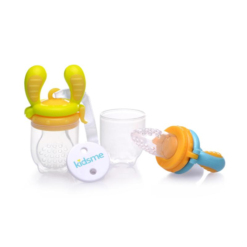 Kidsme Baby Feeding Set - Lime/Yellow, Blue/Orange