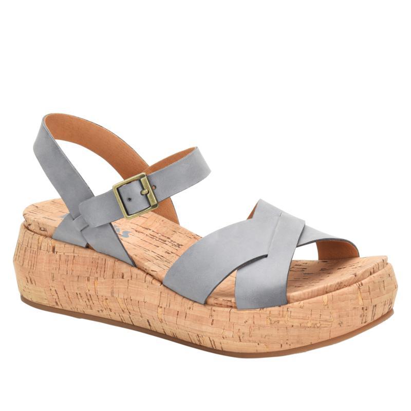 Korks Kalie Cork Wedge Leather Sandal