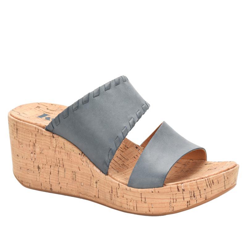 Korks Kendri Cork Wedge Leather Sandal