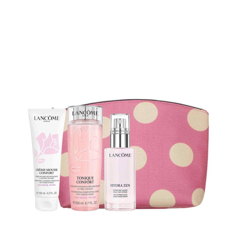 Lancôme 3-piece Zen Confort Set with Pink Bag