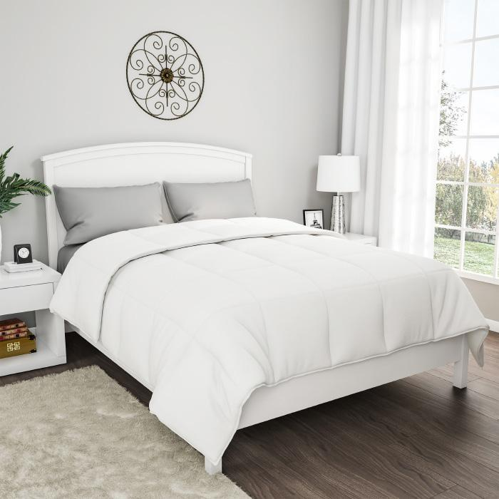 Lavish Home Cotton Feather Down Comforter - Full/Queen
