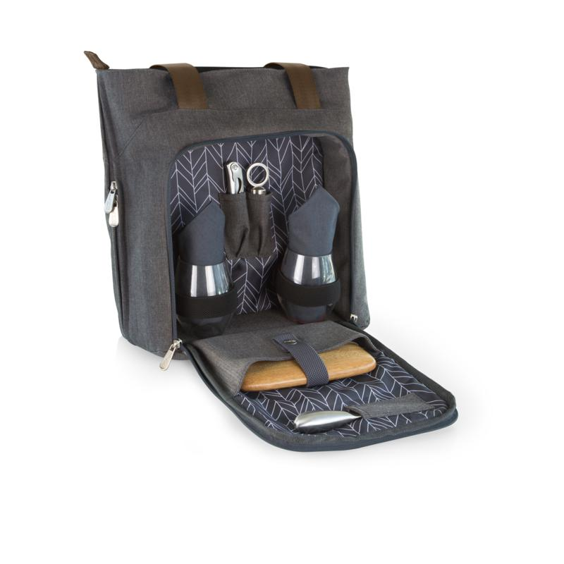 Legacy by Picnic Time Sonoma Wine Tote - Gray