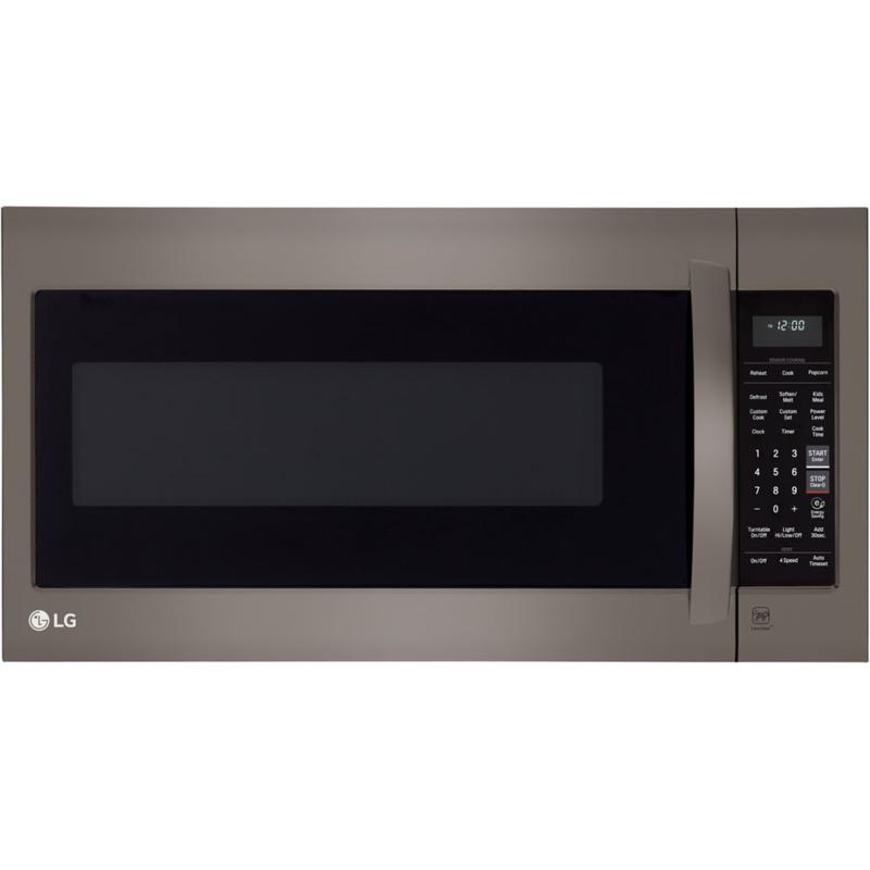 LG 1000W 2cf Over-the-Range Microwave/Black Stainless