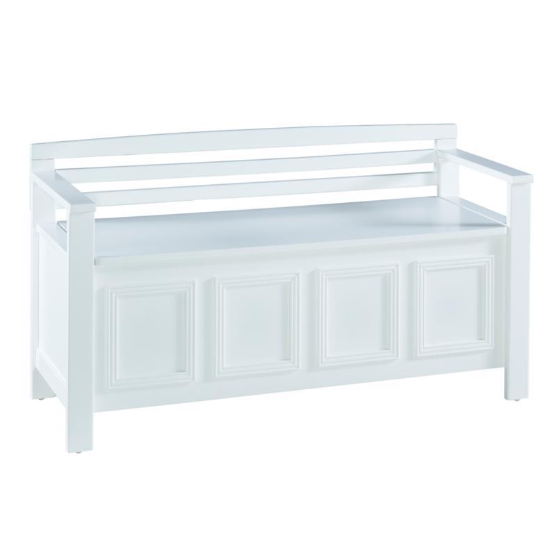 Linon Home Knox Storage Bench - White
