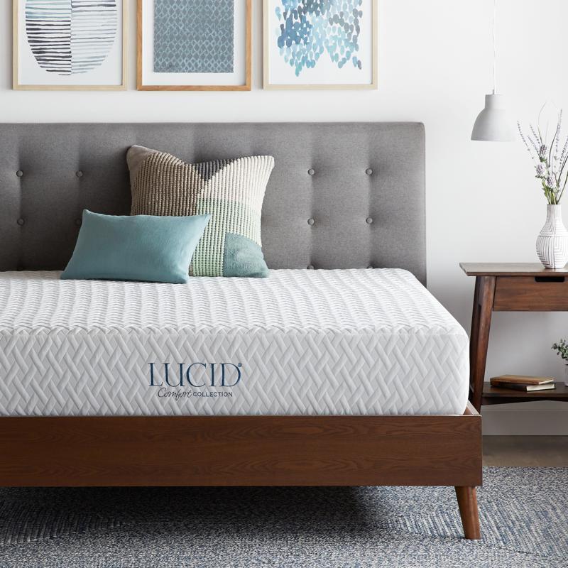 "LUCID Comfort Collection 10"" Plush Memory Foam Mattress - Cal King"