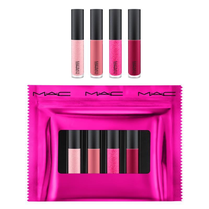 MAC Cosmetics Mini Lipglass x4 Pink