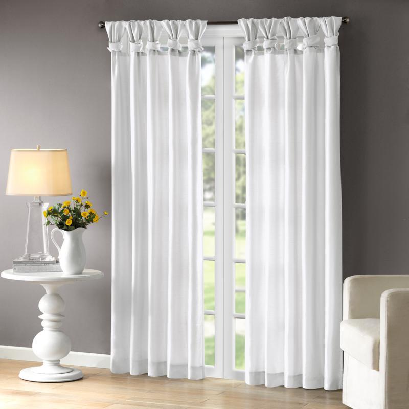 "Madison Park Emilia Curtain - White - 50"" x 84"""