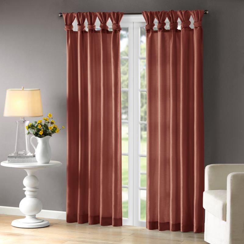 "Madison Park Window Curtain 84"" Panel  - Spice"
