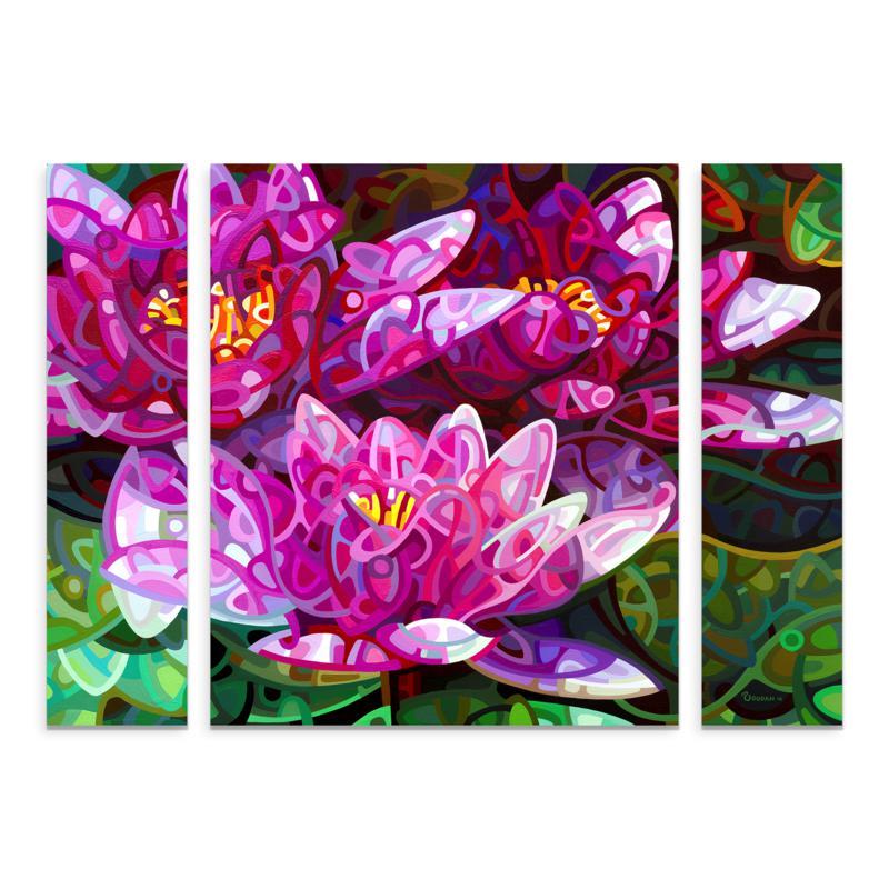 "Mandy Budan ""Triumvirate"" Multi-Panel Art - 24"" x 32"""