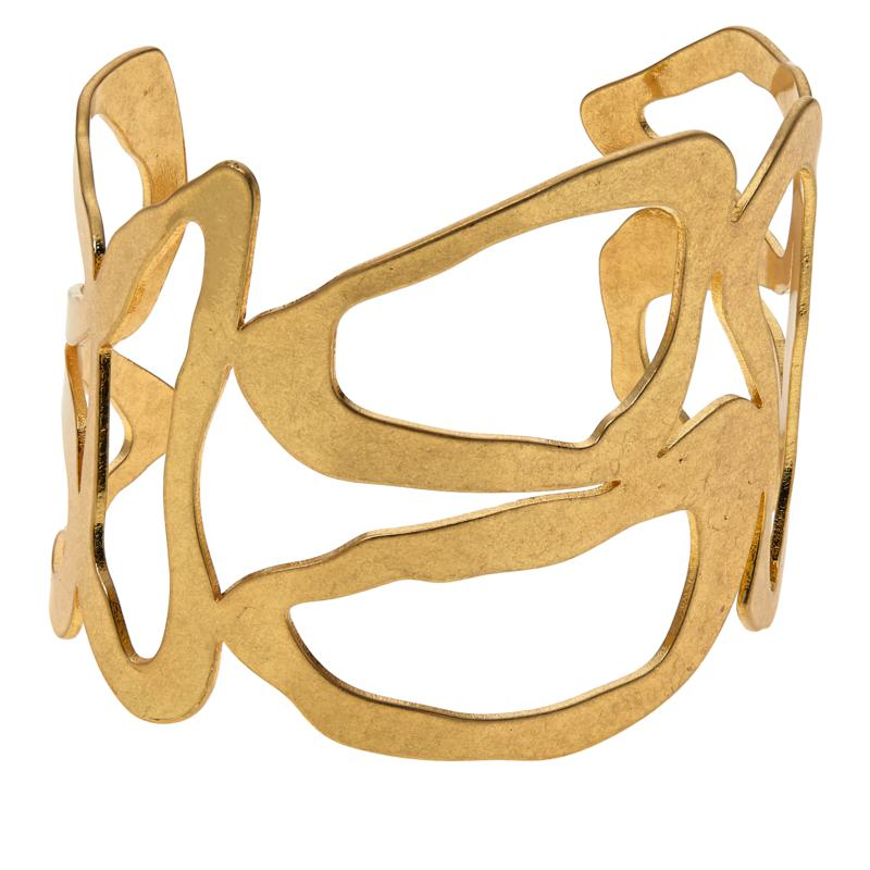 "MarlaWynne Abstract 7-1/4"" Cuff Bracelet"
