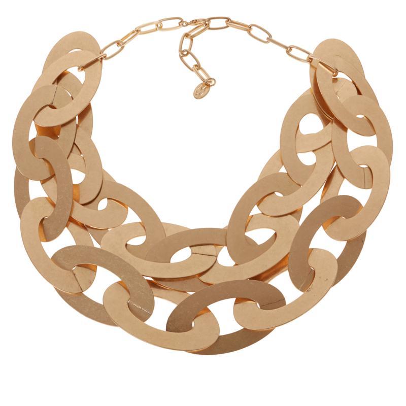 MarlaWynne Bold Oval Link 2-Row Necklace