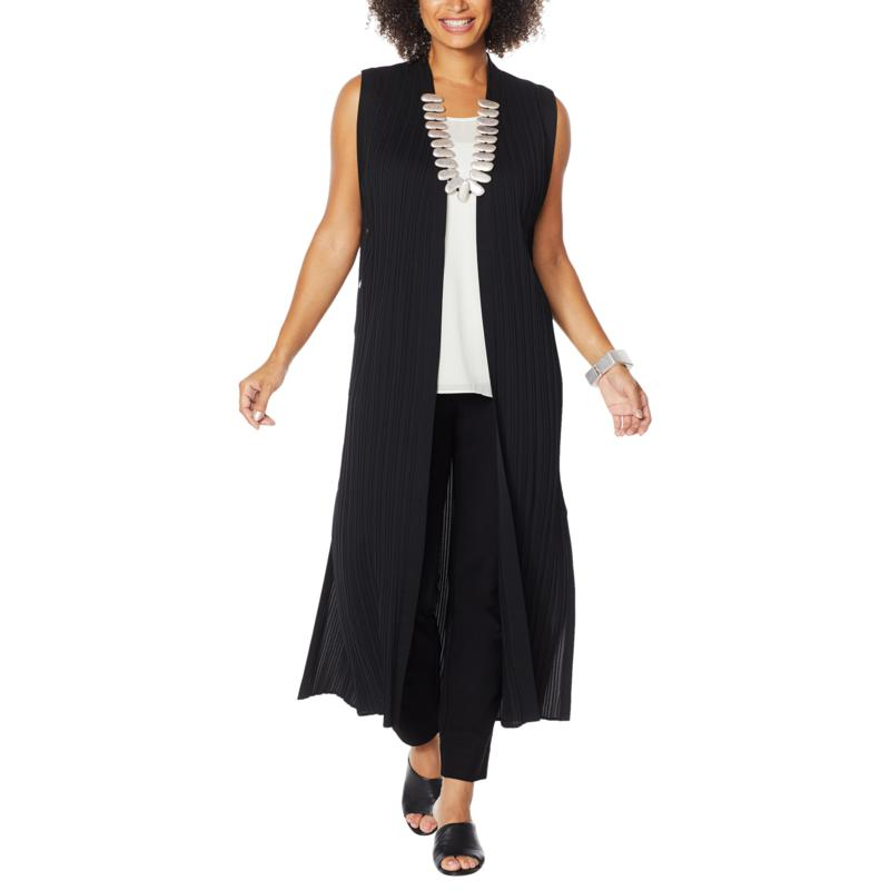 MarlaWynne Pleated Duster with Snaps