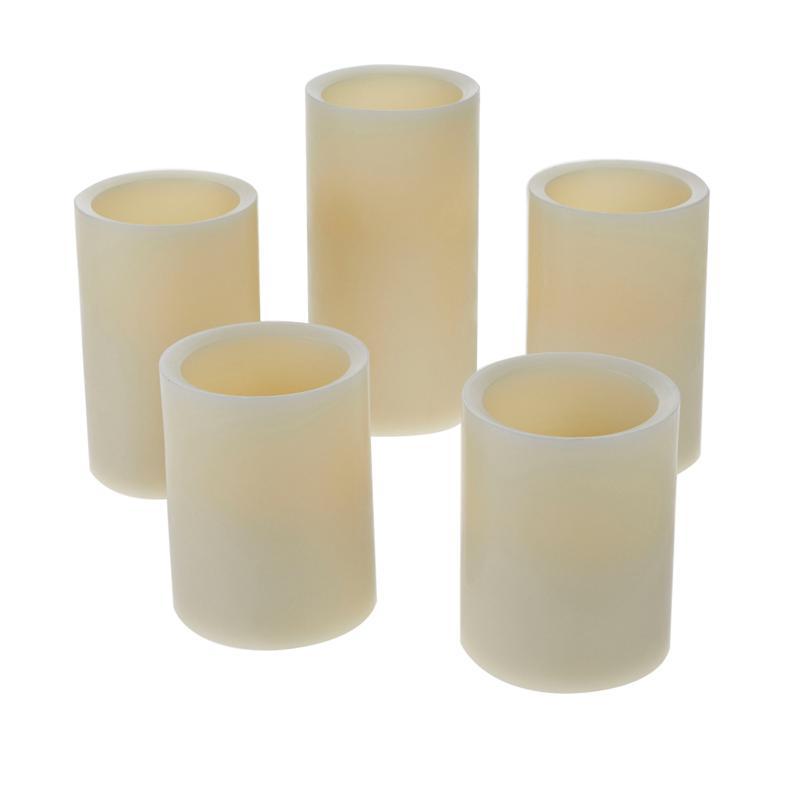 Matchless 5-piece Push Button Candle Set
