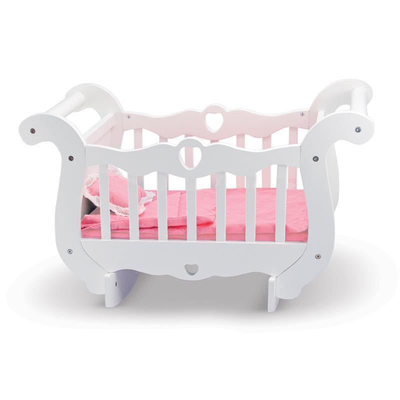 Melissa & Doug Wooden Doll Crib