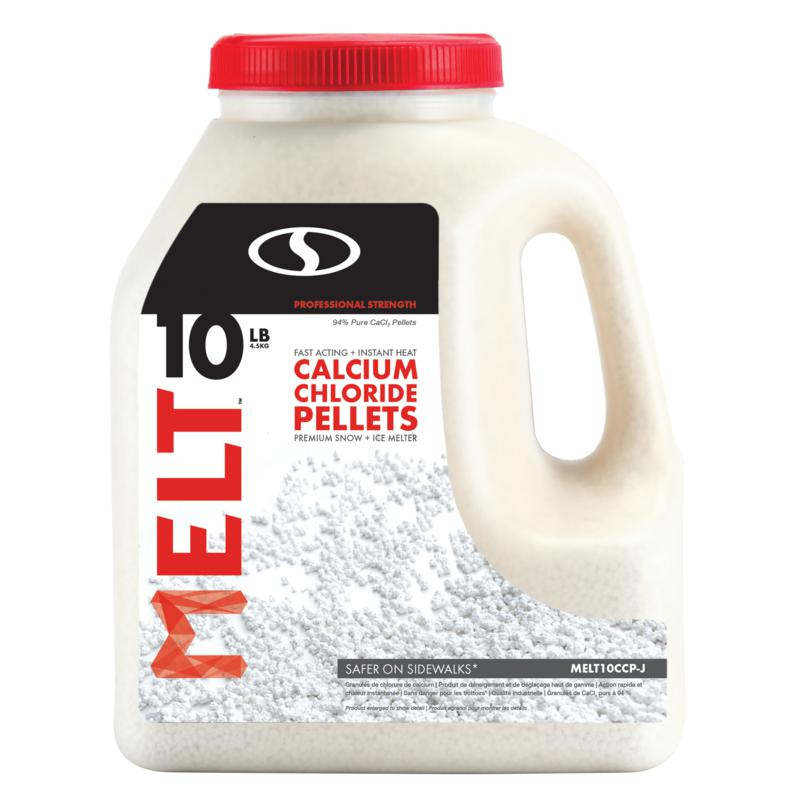 MELT 10lb. Jug Calcium Chloride Pellets Professional Strength Ice Melt
