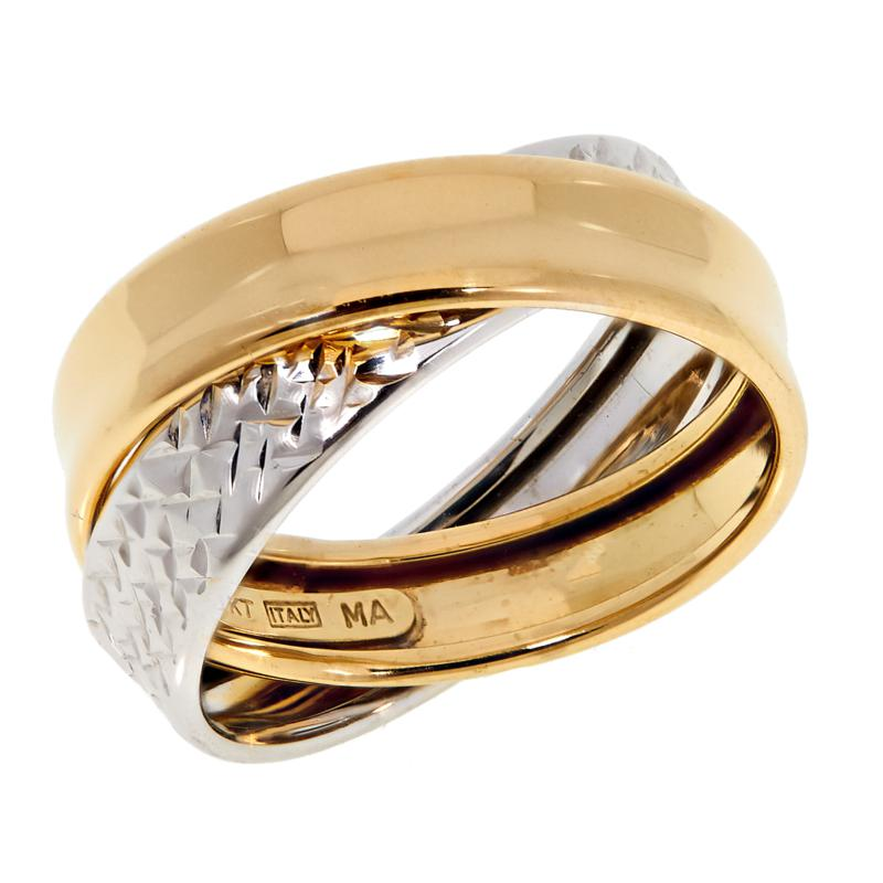 Michael Anthony Jewelry® 10K Two-Tone Crossover Band Ring