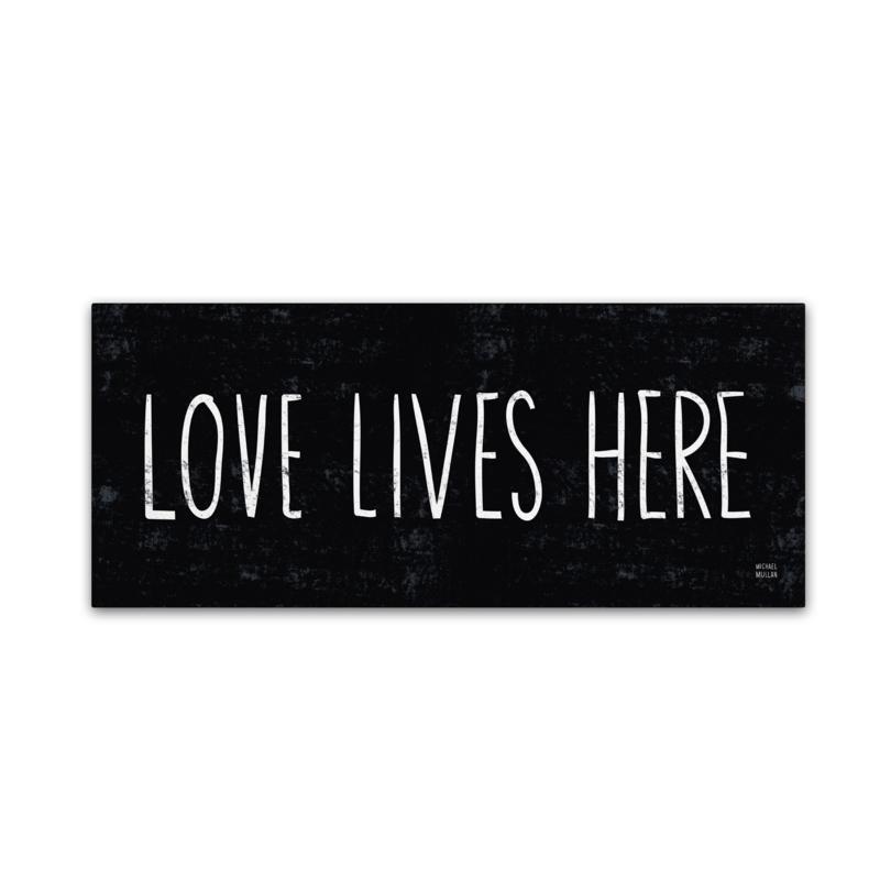 "Michael Mullan ""Love Lives Here"" Canvas Art"