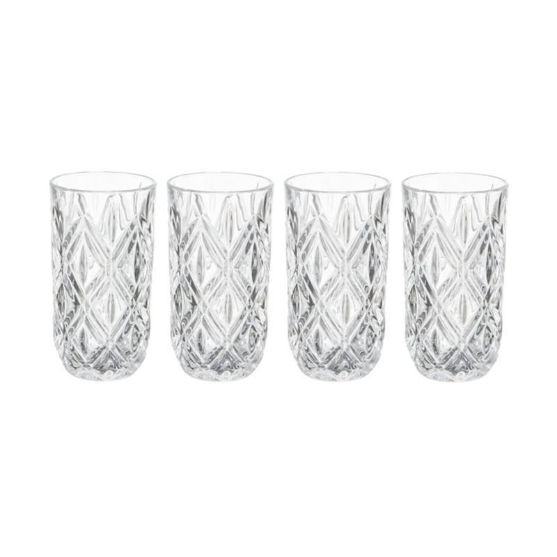 Mikasa Claremont Highball Glass Set of 4